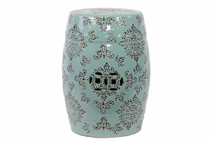 Mesmerizing Classy Unique Garden Stool Blue And White by Urban Trends Collection