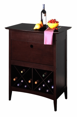 Winsome Wood Mesmerizing Crisscross Wine Storage Butler