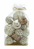 Mesmerizing Decorative Dried Sola Ball Bag Brand Benzara