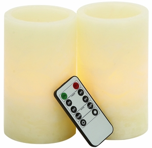 Mesmerizing Led Flameless Candle Remote Set by Woodland Import