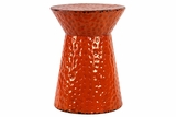 Mesmerizing Orange Colored Polished Metallic Stool