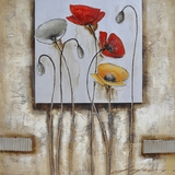 Mesmerizing Painted Poppies For You II Painting by Yosemite Home Decor