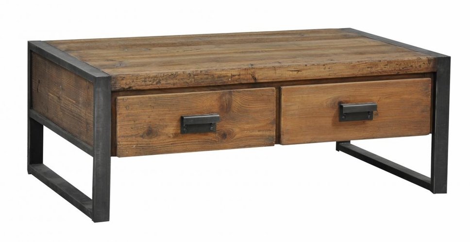 Tables mesmerizing piece of wooden coffee table with two drawers