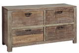 Mesmerizing Reclaimed Wooden Four Drawer Hampton Dresser
