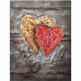 Mesmerizing Styled Attractive Two Hearts Beat as One Painting by Yosemite Home Decor