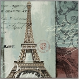 Mesmerizing Styled Eiffel Tower Artistic Painting by Yosemite Home Decor