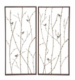 Mesmerizing Styled Metal Wall D�cor 2 Assorted by Woodland Import