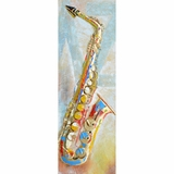 Mesmerizing Styled Sweet Saxophone Classy Painting by Yosemite Home Decor