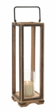 Mesmerizing Stylish Wood Metal Glass Lantern by Woodland Import