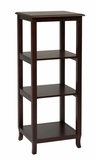 Mesmerizing Three Tier Wooden Side Pier Bookcase by Office Star
