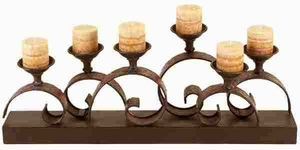 """Metal 13"""" Candle Holder Crafted with Intricate Detailing Brand Woodland"""