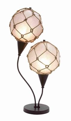 "Metal 28"" Fishing Net Lamp in Swans Design Set of 2 Brand Woodland"