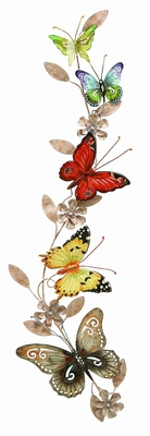 """Metal 39"""" Butterfly Decor with Crafted Contemporary Design Brand Woodland"""