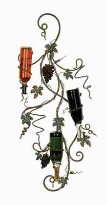 "Metal 44"" Wall Wine Rack Designed with Artistic Detailing Brand Woodland"