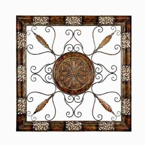 "Metal 45"" Wall Plaque Designed with Intricate Detailing Brand Woodland"