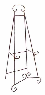 """Metal 74"""" Heavy Duty Easel Designed with Delicate Pattern Brand Woodland"""