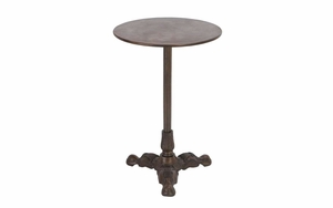 Metal Accent Table Beautifully Fabricated Over Cylindrical Pillar Brand Woodland