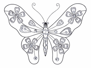 Metal Acrylic Butterflies Bring Live Garden Beauty In Your Room Brand Woodland