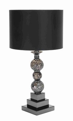 "Metal and Glass 24"" Table Lamp with Elegant and Modern Design Brand Woodland"