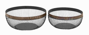 Metal Basket Complements Traditional and Modern Decor (Set of 2) Brand Woodland