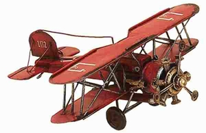 Metal Bi Plane in Red Color with Modern and Intricate Design Brand Woodland