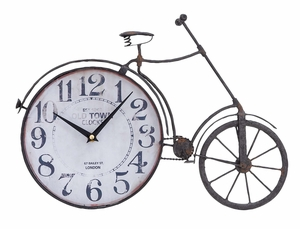 Metal Bicycle Clock Unique Vintage Class Purposeful Wall Decor Brand Woodland