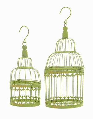Metal Bird Cage with Great Durability and Long Lasting (Set of 2) Brand Woodland