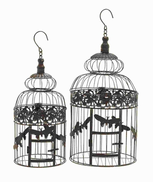 Metal Bird Cage with Light Weight and Durable (Set of 2) Brand Woodland