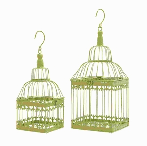 Metal Bird Cage with Unique and Sturdy Design (Set of 2) Brand Woodland