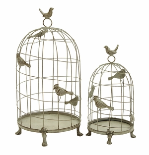 Metal Birdcage Set of 2 in Classic Mix of Elegance and Grandiose Brand Woodland
