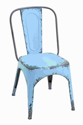 Metal Blue Chair with Dash of Color and Vibrancy in Classic Style Brand Woodland