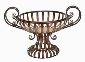 Metal Bowl in Circular Shape Designed with Intricate Detailings Brand Woodland