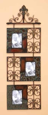 Metal Brooks Wall Photo Frames with Intricate Design - Set of 3 Brand Woodland