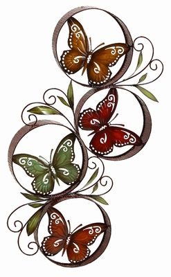 Metal Butterfly Decor in Contemporary Design with Vibrant Colours Brand Woodland