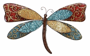 Metal Butterfly Decor in Multi Color with Artistic Design Brand Woodland