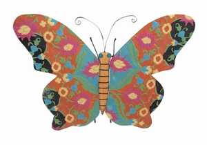 Metal Butterfly Shaped Decor with Rich design and Natural Texture Brand Woodland