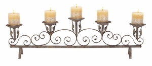 Metal Candle Holder Extra Wide Sculpture For Five Candles Brand Woodland