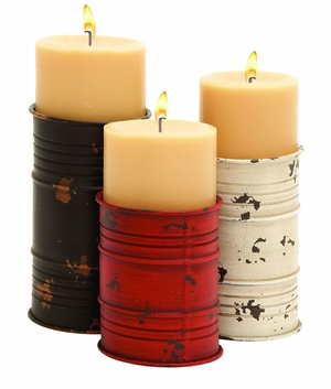 Metal Candle Holder with Distinctive Style - Set of 3 Brand Woodland