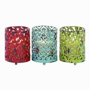 Metal Candle Holder with Long Lasting Construction (Set of 3) Brand Woodland