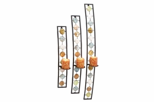 Metal Candle Sconce Set/3, 34 Inch ,28 Inch ,22 Inch Height Brand Woodland