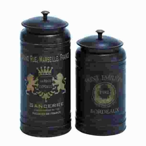Metal Canisters with Classic and Old-World Appeal (Set of 2) Brand Woodland