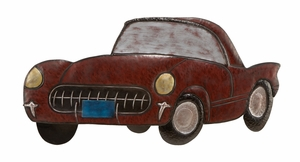 Metal Car Wall Plaque in Multi Color with Modern Design Brand Woodland