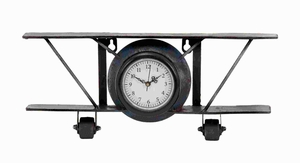 Metal Clock Designed Like A Glider with Thick Frame and Dial Brand Woodland