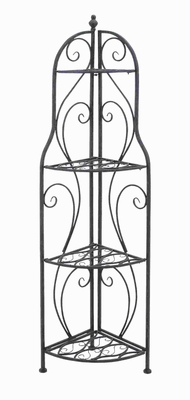 Metal Corner Rack with Modern interiors and Conventional Decors Brand Woodland