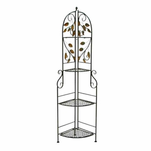 Metal Corner Rack with Modern or Conventional Style Decor Brand Woodland