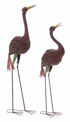 Metal Crane Complements Traditional and Modern Decor (Set of 2) Brand Woodland
