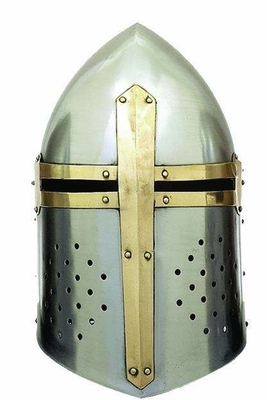 Metal Crusader Helmet with Gladiator Style and Articulate Design Brand Woodland