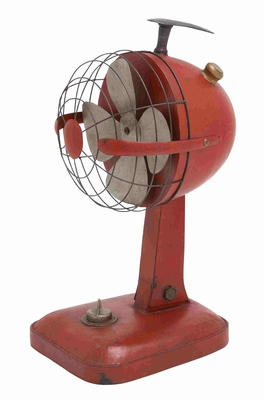 Metal Decorative Classy and Vintage Table Fan Brand Benzara