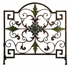 Metal FIRE SCREEN, Decorative Fireplace Screen Brand Woodland
