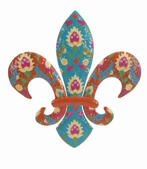 Metal Fleur Di Lis with Lightweight and Weather Resistant Feature Brand Woodland